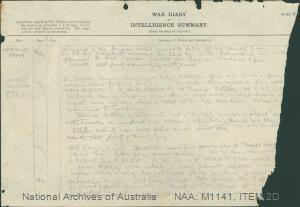 World War I - War Diaries [8th Australian Infantry Brigade War Diary, 1 January 1917 - 1 January 1918]