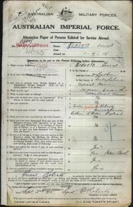 ROBERTS Ernest : Service Number - 4655 : Place of Birth - Ruthin Wales : Place of Enlistment - Holdsworthy (Holsworthy) NSW : Next of Kin - (Father) ROBERTS Joseph