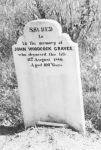 Religion - Cemeteries - Grave of John Woodcock Graves, author of D'ye Ken John Peel [photographic image]. 1 photographic negative: b&w, acetate