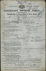 Smith Nathaniel Henry : SERN LIEUT 380 : POB Bungendore NSW : POE Liverpool NSW : NOK F Smith E L