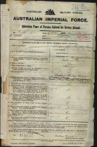 Evans Andrew John Timothy : SERN 3634 : POB Norfolk Island : POE Sydney NSW : NOK M Evans Elenor Mary