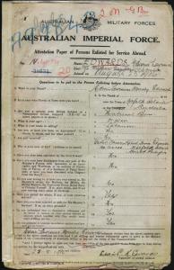 Edwards Edwin Lawrence Moresby : SERN 594 : POB Norfolk Island NSW : POE Sydney NSW : NOK F Edwards Charles Robert Towns
