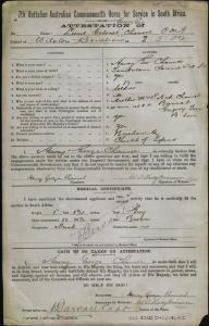 Chauvel Henry George : SERN LT GEN : POB N/A : POE Brisbane QLD : NOK W Chauvel