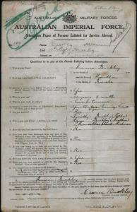 Buckley Maurice Vincent VC [AKA Sexton Gerald] : SERN 6594 633 107 : POB Hawthorn VIC : POE Melbourne VIC : NOK F Buckley Timothy