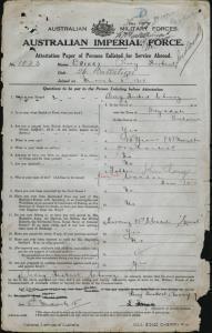 Cherry Percy Herbert VC : SERN CAPT 1023 : POB Drysdale VIC : POE Franklin TAS : NOK F Cherry John Gawley