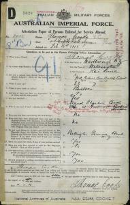 Cooke Thomas VC : SERN 3055 : POB Wellington NZ : POE Melbourne VIC : NOK W Cooke Maude Elizabeth
