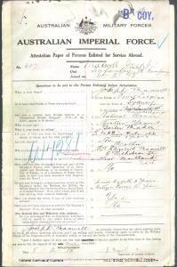 MAXWELL Joseph : Service Number - 607 : Place of Birth - Sydney NSW : Place of Enlistment - Liverpool NSW : Next of Kin - (Mother) MAXWELL Elizabeth
