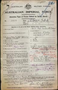 McFadyen Keith Robert Douglas : SERN 3869 : POE Walcha NSW : POE Holsworthy NSW : NOK M McFadyen Mabel Mary