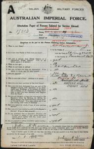 McKenna John : SERN 18513 : POB Springsure QLD : POE Sydney NSW : NOK S McKenna May