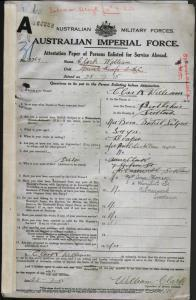 Clark William : SERN 13269 : POB Perthshire Scotland : POE Melbourne VIC : NOK S Clark Anne