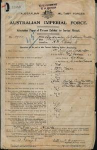 Anderson William Mellhinch : SERN 1902 : POB Sydney NSW : POE Liverpool NSW : NOK S Anderson Myra