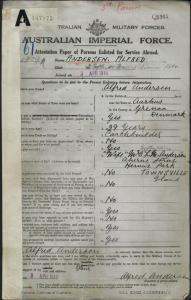 Andersen Alfred : SERN 1929A : POB Aarhus Denmark : POE Townsville QLD : NOK W Andersen Lizzetta Matilda