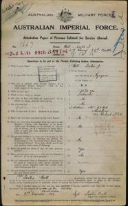 Hall Leslie John : SERN 1667 : POB Nyngan NSW : POE Galong NSW : NOK M Hall H F