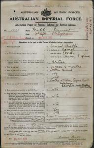 Babb Ernest : SERN 1232 : POB Exeter England : POE Capella QLD : NOK F Babb William Tregure