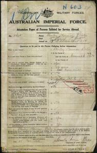 Bates Stanley Norman : SERN 5648 : POB Cessnock NSW : POE Wollongong NSW : NOK M Bates Ernestina