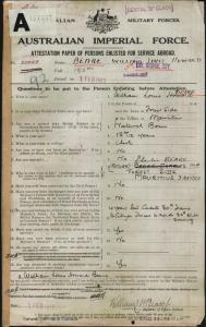 Beare William Louis Howard : SERN 20942 : POB Forest Side Mauritius : POE Adelaide SA : NOK F Beare Charles