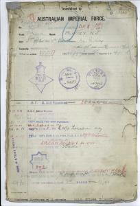 BLAMEY William James : SERN 455A : POB Cornwall England : POE Rockhampton QLD : NOK S Harrison Nora