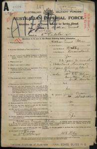 Bliss William Ernest : SERN 4256 : POB Dalby QLD : POE Brisbane QLD : NOK M Bliss Margaret Mary