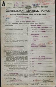 Bright Charles : SERN 3033 : POB Lawley England : POE Toowoomba QLD : NOK S Edser Sarah