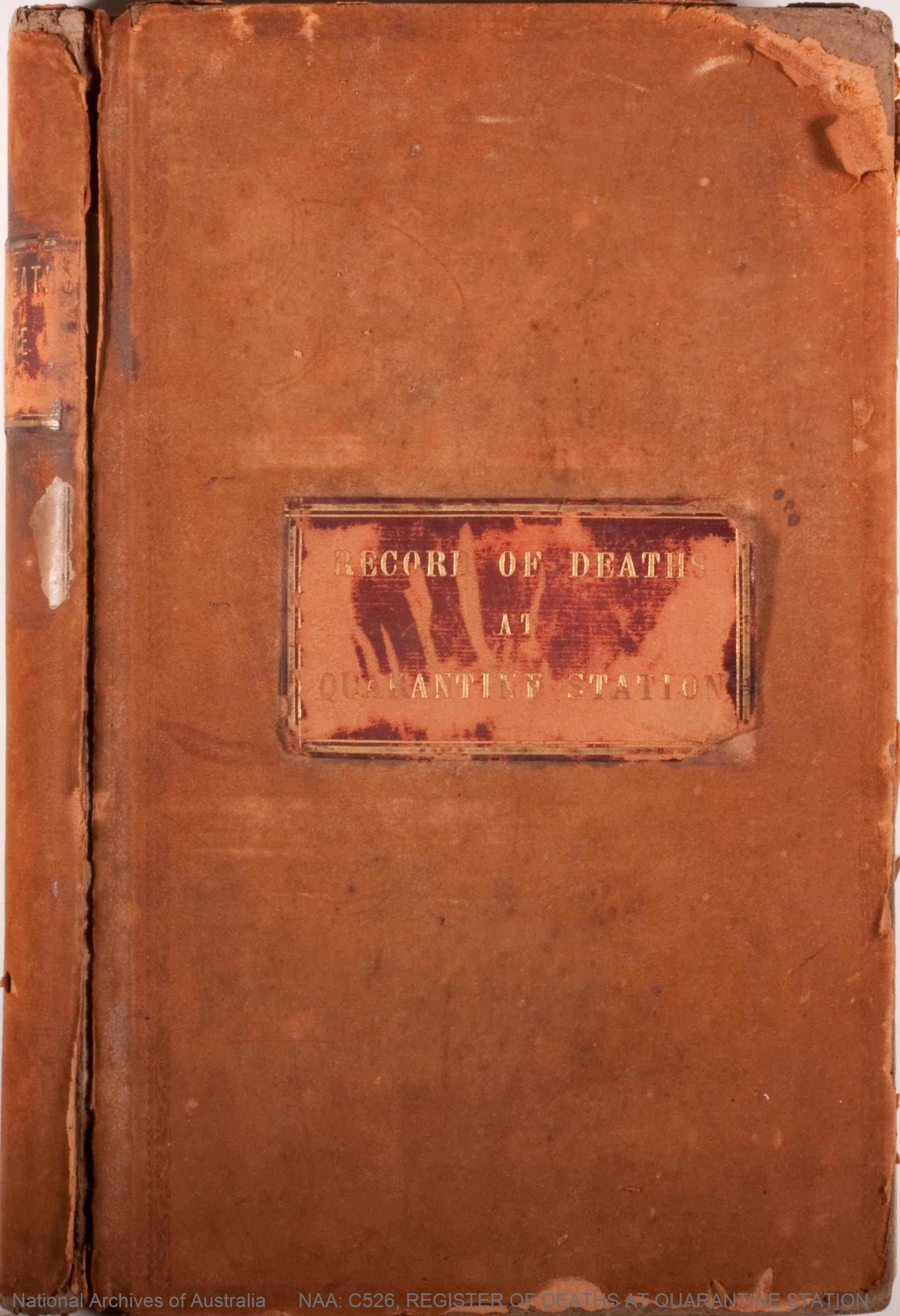 NAA: C526, REGISTER OF DEATHS AT QUARANTINE STATION