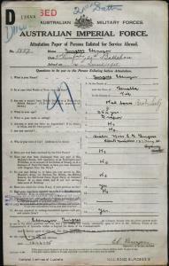Burgess Ebenezer : SERN 1887 : POB Benalla VIC : POE Stratford VIC : NOK S Burgess E B