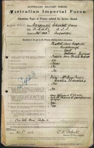 Carpenter Charlotte Anne : SERN SISTER : POB York England : POE Cairo Egypt : NOK S Fricker Mrs George