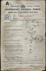 Connors James Herbert : SERN 116 : POB Townsville QLD : POE Brisbane QLD : NOK M Connors M