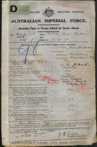 Coppin James Herdman : SERN 1408 : POB Geraldine NZ : POE Liverpool Camp NSW : NOK F Coppin James