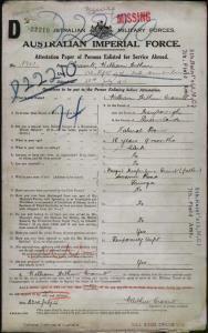 Cramb William Arthur : SERN 1721 : POB Maryborough QLD : POE Brisbane QLD : NOK F Cramb Dougal Macfarlane