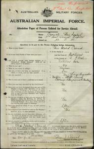 Crouch Elsie Isabel : SERN Staff Nurse : POB Bathurst NSW : POE N/A : NOK F Crouch Henry Augustus