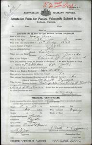 Dean George : SERN 230 : POB Carlton VIC : POE South Melbourne VIC : NOK M Dean Mrs