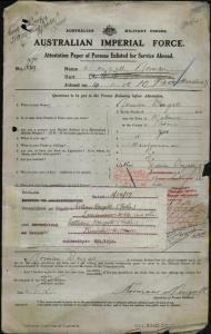 Dougall Norman : SERN Lieutenant : POB Melbourne VIC : POE Perth WA : NOK F Dougall William