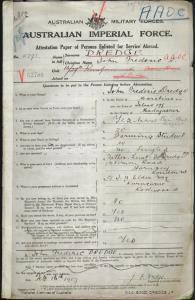 Dredge John Frederick : SERN 4791 : POB Mauritius Islands : POE Ballarat VIC : NOK F Dredge LT Fawcett