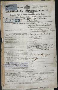 Dundas Frederick Charles : SERN Lieutenant : POB Sussex England : POE Melbourne VIC : NOK Dundas R J