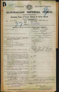 Farley Matthew : SERN 424 : POB Bootle England : POE West Maitland NSW : NOK M Farley Rose
