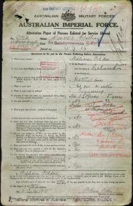 Fildes William : SERN 5063 : POB Richmond VIC : POE Melbourne VIC : NOK W Fildes Isabella