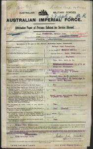 Freestone Arthur John : SERN 6547 : POB Shepton Mallet England : POE Newcastle NSW : NOK S Herbert Sarah Jane