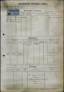 Bean Charles Edwin Woodrow : SERN CAPT : POB N/A : POE N/A : NOK F Rev Bean E