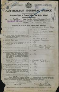 PAGE Earle Christmas Grafton : Service Number - Captain : Place of Birth - Grafton NSW : Place of Enlistment - N/A  : Next of Kin - (Wife) PAGE Ethel