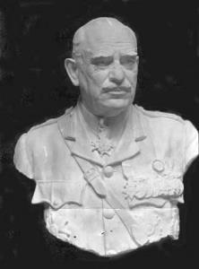Photograph - Life size bust in plaster of General Sir John Monash, by sculptor Paul Raphael Montford.