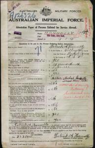 HANNELLY Patrick Aloysius : Service Number - 4199 : Place of Birth - Wellington NSW : Place of Enlistment - Holsworthy NSW : Next of Kin - (Father) HANNELLY Michael