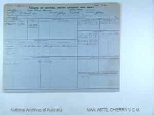 CHERRY VICTOR CLAUDE MORRISON : Service Number - S3672 : Date of birth - 31 Mar 1904 : Place of birth - SYDNEY NSW : Place of enlistment - SYDNEY NSW : Next of Kin - CHERRY C