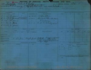 KENNY ROBERT GLASBY : Service Number - 120 : Date of birth - 24 Feb 1876 : Place of birth - CARRICK-MA-CROSS IRELAND : Place of enlistment - Unknown : Next of Kin - KENNY EMILY