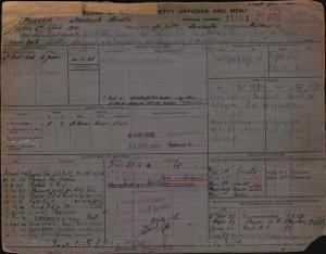 PARKER FREDRICK HORATIO : Service Number - 17084 : Date of birth - 02 Apr 1904 : Place of birth - SEAFORTH : Place of enlistment - MELBOURNE : Next of Kin - HILDA