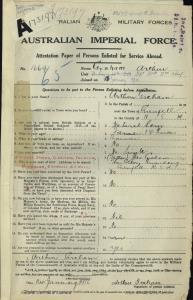 Graham Arthur : SERN 1669 : POB Grenfell NSW : POE Cootamundra NSW : NOK F Graham James