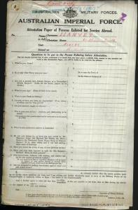HARVEY William Smith : Service Number - N/A : Place of Birth - Dungog NSW : Place of Enlistment - Dubbo NSW : Next of Kin - (Sister) GOSHER Margaret Mrs