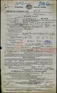 HARRISON Charles Henry : Service Number - Captain : Place of Birth - N/A : Place of Enlistment - N/A : Next of Kin - N/A