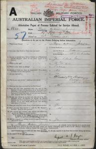 HAYES Andrew Joseph : Service Number - 5500 : Place of Birth - Cooma NSW : Place of Enlistment - Brisbane Qld : Next of Kin - (Brother) HAYES William