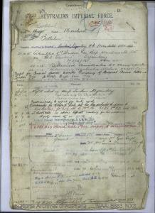 MORSHEAD LESLIE JAMES : Service Number - NX8 : Date of Birth - 18 Sep 1889 : Place of Birth - BALLARAT VIC : Place of Enlistment - SYDNEY NSW : Next of Kin - MORSHEAD MYRTLE