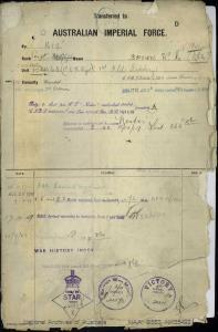 BROWN WALTER ERNEST : Service Number - NX35492 : Date of birth - 03 Jul 1900 : Place of birth - NEW NORFOLK TAS : Place of enlistment - WAGGA NSW : Next of Kin - BROWN MAUDE